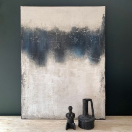 Unique Abstract Art Oil Painting on Canvas Urban – Navy