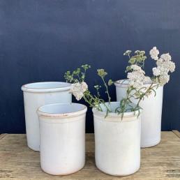 Antique Italian preserve pots