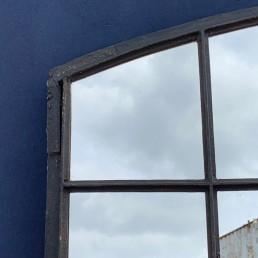 large industrial factory window mirror | pair