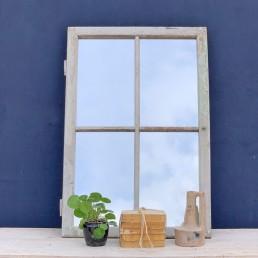 reclaimed timber window mirror