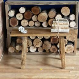 rustic reclaimed elm utility bench | 80cm