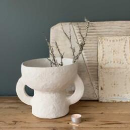 paper mache sculptural pot | grace