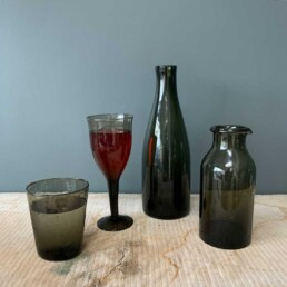 hand made recycled glass collection smoke