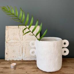 paper mache sculptural pot | Marie