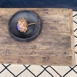 Rustic elm coffee table   sofia