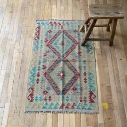 Small Handwoven Kilim rug | Emiri 119cm x 80cm