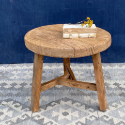 Reclaimed Elm round side table