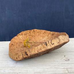 Vintage rustic cork bowl