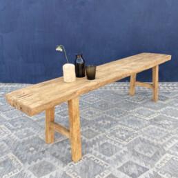 rustic salvaged pine bench | Gabriel