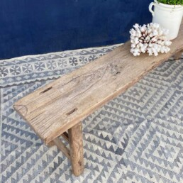 Reclaimed rustic wood bench   Yiannis