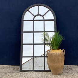 Vintage full length cast iron warehouse window mirror