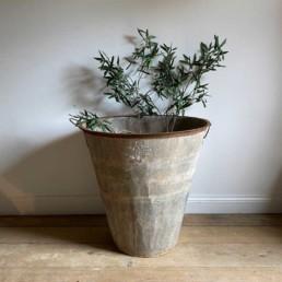 Large Vintage Olive Tree Garden Planter | Single planter
