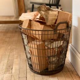 Vintage Galvanised Wire Basket | Log Basket