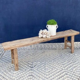 Reclaimed rustic wood bench | Yiannis