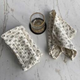 Cotton Napkin Set | Flora
