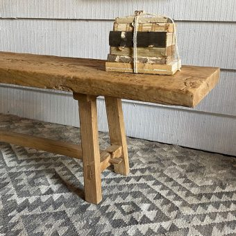 Large salvaged timber dining bench