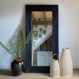 Rustic reclaimed mirror full length black