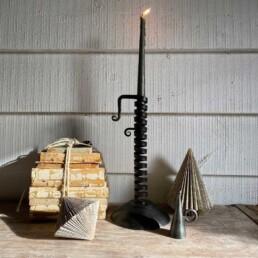 Large Traditional Iron Candlestick Adjustable