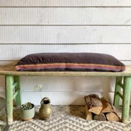 Gray Velvet Bench Cushion