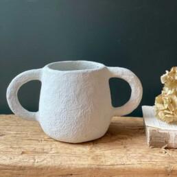 Paper Mache Sculptural Pot | Emile