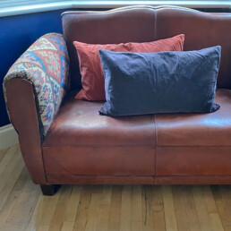 Soft velvet Bolster cushion | large
