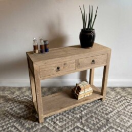 Pale Rustic Timber console |Cecil