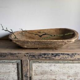 Vintage large wooden Dough Bowl | Chapman
