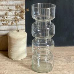 Sculptural Clear glass vase