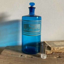 Antique blue apothecary bottle - Colombo