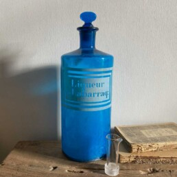 Antique blue apothecary bottle – Labarraq