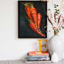 Original Oil Painting by Lizzie Owen| Carrots