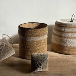 Small Stripe basket | Natural