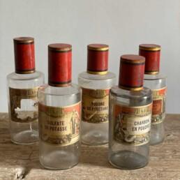 Napoleon III Antique Apothecary Jars - Charbon
