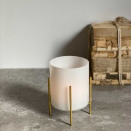Frosted Tealight Gold Stand