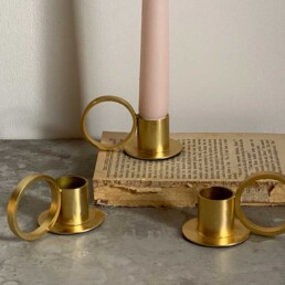 Matt Gold Circle Candle holder
