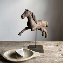 Antique carved model horse on stand | Alexanda