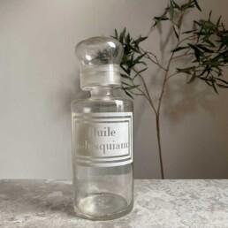 Antique Apothecary Bottle | Huile Jusquiam