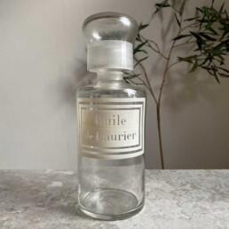 Antique Apothecary Bottle | Huile Laurier