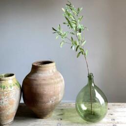 Faux Olive Branch Single