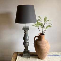 French Baluster Lamp | Dark Grey