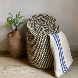 Hand woven laundry basket | Palm