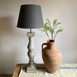 French Baluster Lamp | Taupe