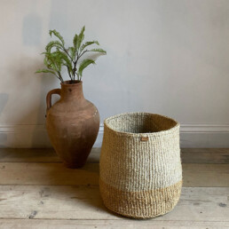 Hand woven neutral basket | Large