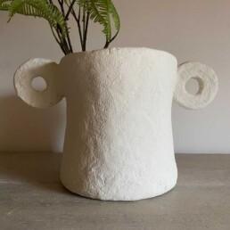 Hercules   Paper Mache Sculptural Pot