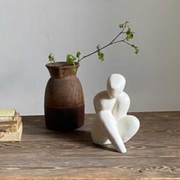 Human form sculpture | White