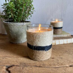 String wrapped candle | Medium