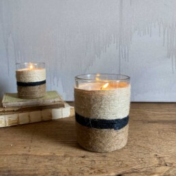 String wrapped candle   Medium