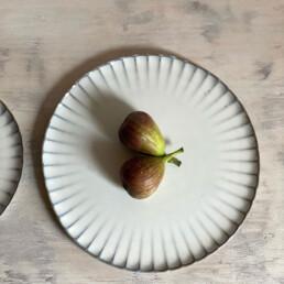 Fluted Ceramic Dinner plate | 27cm