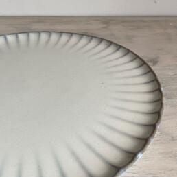 Fluted Ceramic Dinner plate   27cm