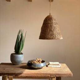 Hand woven natural Seagrass lampshade